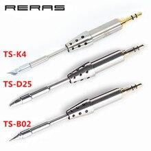 TS K4 TS D25 TS B02 TS J02 oryginalna głowica lutownicza TS80 wymienna końcówka lutownicza TS K4 D25 B02 dla TS80 zestaw narzędzi lutowniczych zestaw narzędzi