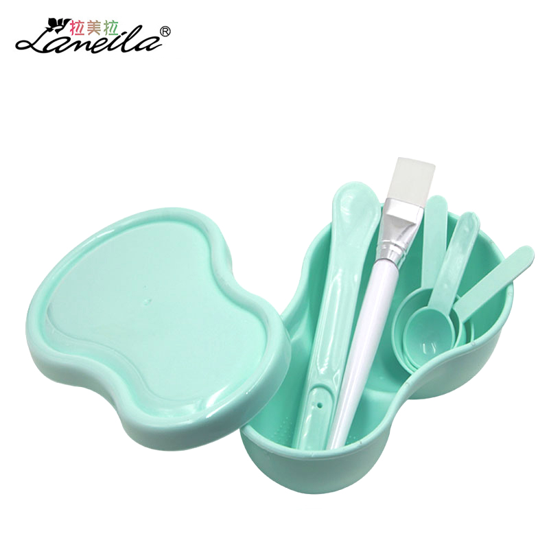 LAMEILA 7pcs Beauty Mask Bowl diy Homemade Face Mask Bowl with Measuring Spoon Cap Cosmetic Mixing brush Sponge Face Care tool
