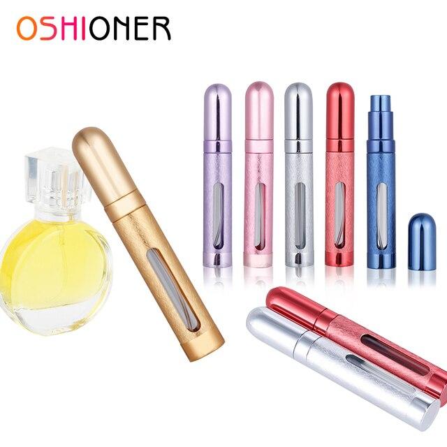 OSHIONER 12 ML Mini portátil de viaje botella de Perfume atomizador recargable botella de Spray vacía para las mujeres y los hombres Spray Perfume loción para después del afeitado