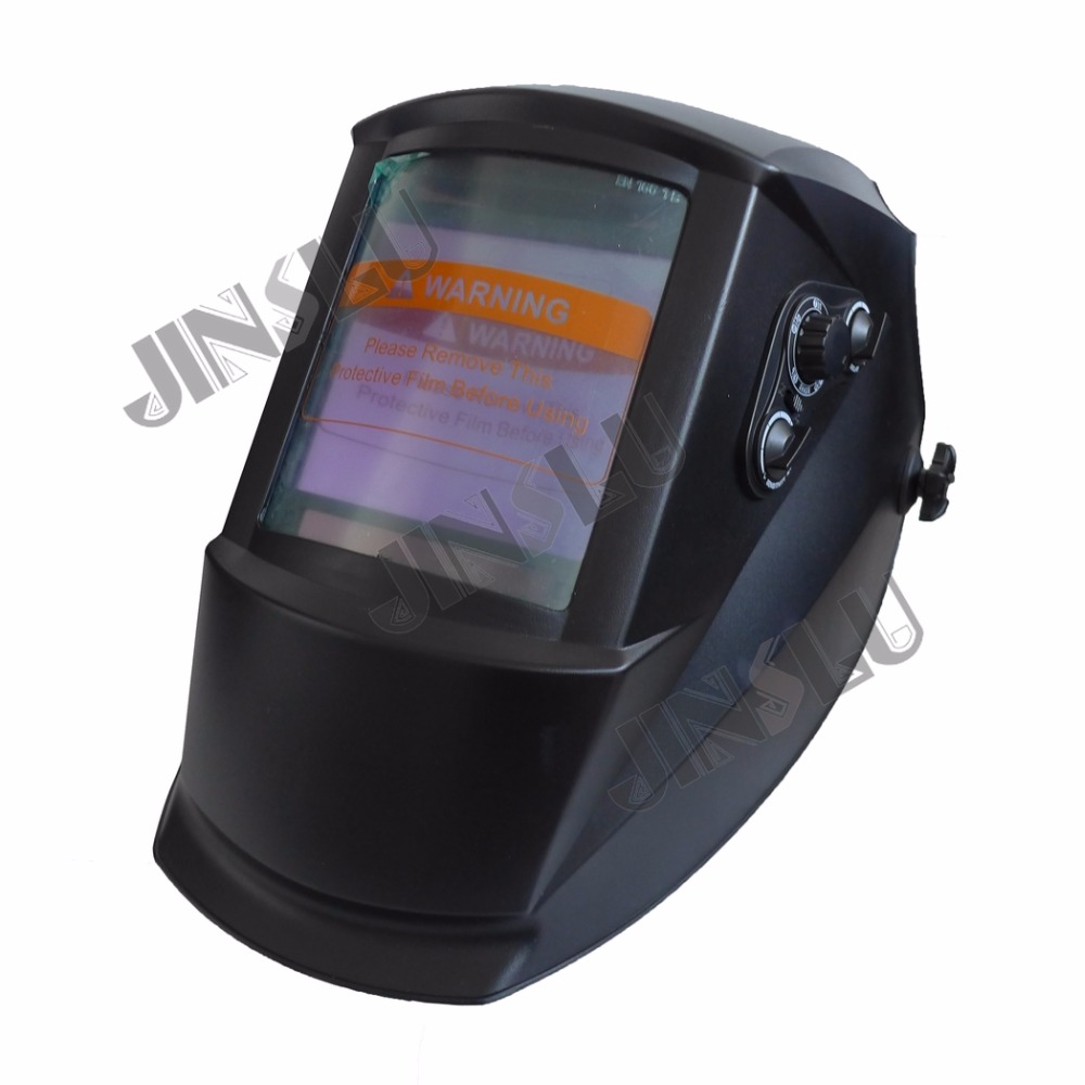 TIG MMA MIG Welding Machine Welder Mask Large View 101x94mm Auto Darkening Welding Helmet dekopro skull solar auto darkening mig mma electric welding mask helmet welder cap welding lens for welding machine