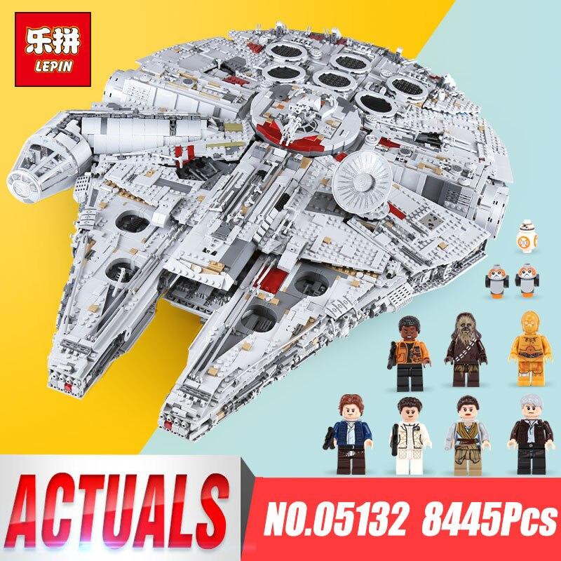 Лепин 05132 Звездные войны Ultimate коллекционера прослужит Сокол Тысячелетия legoing 75192 модель строительные блоки Кирпич детские игрушки
