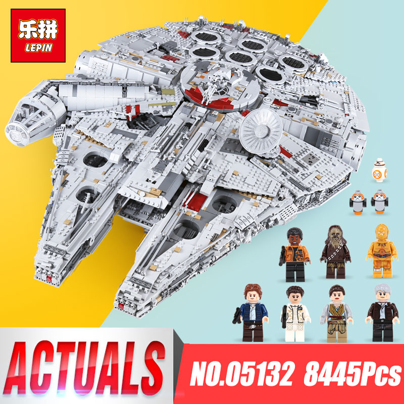 lepin 05132 star wars Ultimate Collector's Destroyer Millennium Falcon legoing 75192 model building blocks bricks Children Toys игровой набор mattel star wars tie fighter vs millennium falcon 2 предмета cgw90