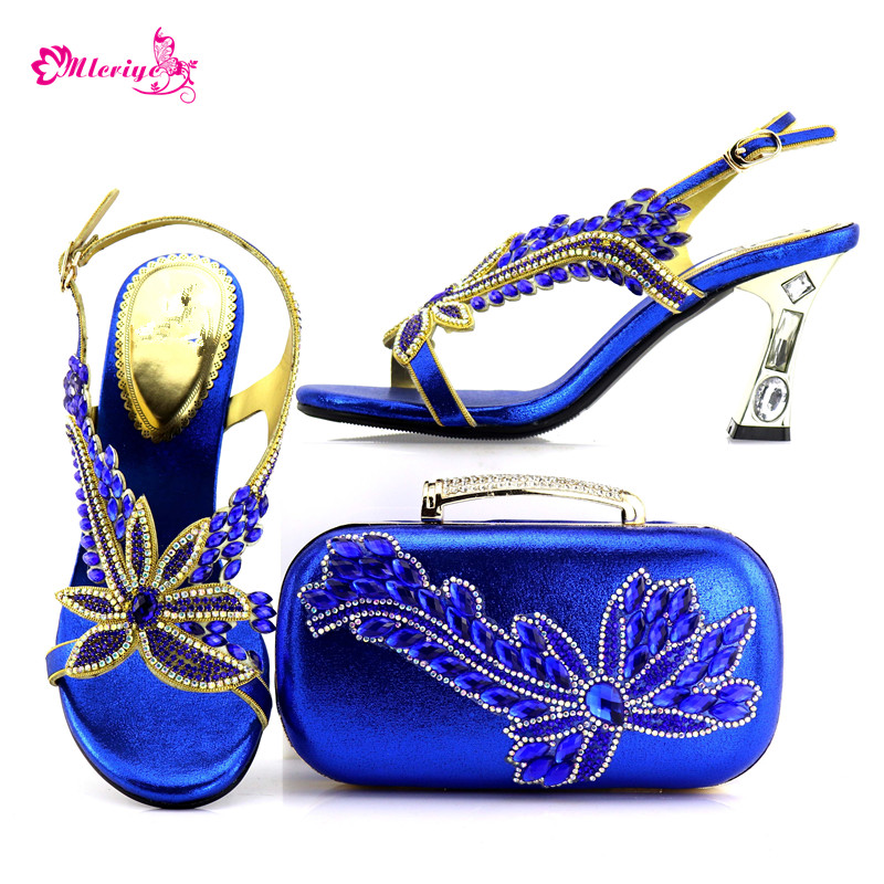 7437 Italian Shoes with Matching Bags for Wedding Italy Nigerian Shoes and Matching Bags New Royal Blue Shoes and Bag Sets стоимость