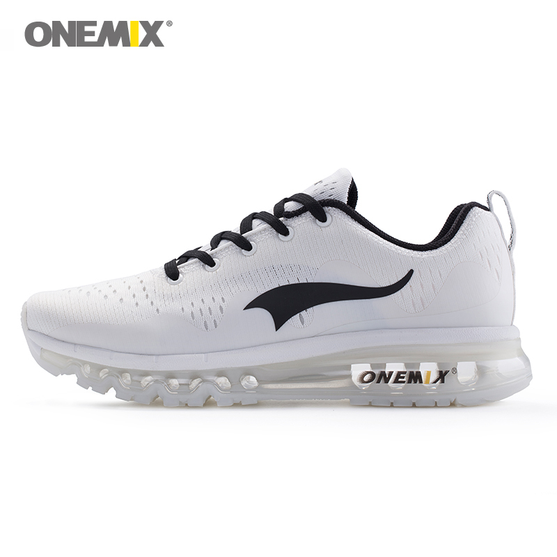 купить Onemix summer running shoes for men sports sneakers damping cushion breathable knit mesh vamp outdoor walking shoes size 39-46 по цене 3236.68 рублей