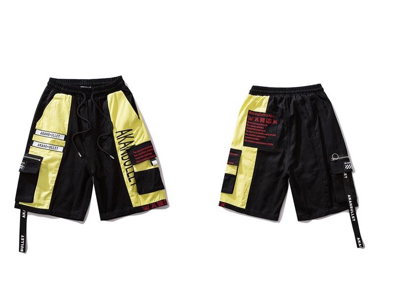 Side Ribbon Zipper Pockets Cargo Baggy Shorts 10