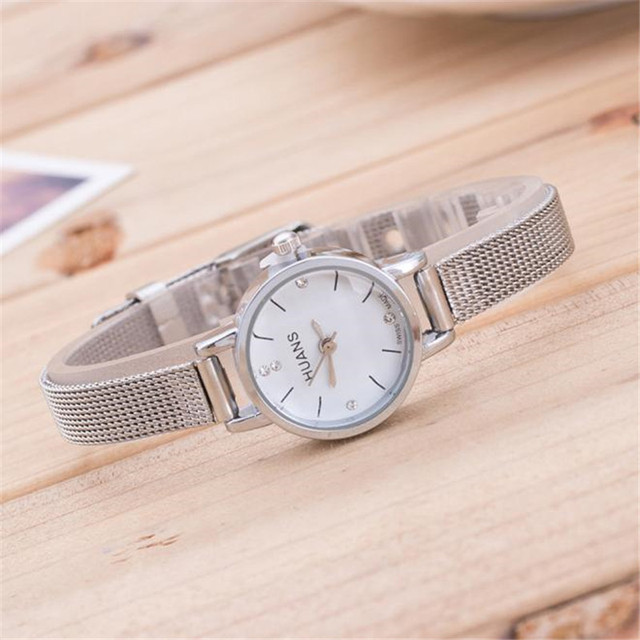 Aimecor Bracelet Watch Women Fashion Mesh Band Clock Ladies Silver Stainless Steel Mesh Band Wrist Watch