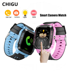 Smart Watch Kids Wrist Watches Waterproof Baby Watch With Camera SIM Card SOS Location Tracker for Children Smartwatch Android