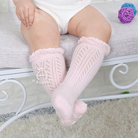 0-3 Years New Breathable Summer Baby Socks Cotton Knee High for Newborns Boys Girls Kids Infant Childrens Socks Bebe Clothes 5