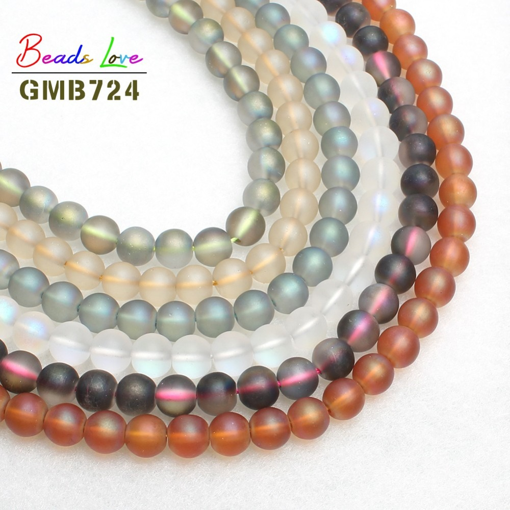 8MM Multicolor Dull Polish Matte Glass Beads Frosted Round Beads For Jewelry Making Kralen Diy Bracelet Necklace Jewellery 15