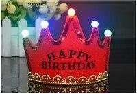 10 pcs coroa De Aniversário cap filhos adultos chapéu duplo espessamento fontes do partido de aniversário do partido