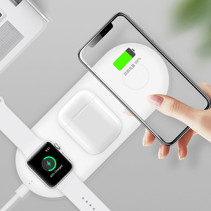 Image 5 - 3 In 1 Wireless Charger Station For Iphone X XS Fast Charge Wireless Charge Pad For Iphone Airpods Charge Stand For Apple Watch