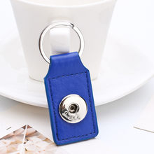 Sales DIY Snap Keychains Personalized Snaps Key Ring Hang Accessories Square One Snap Pendant Fit 18&20MM Snaps KC08(China)