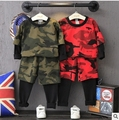 No outono de 2016 edição han instala um novo maré van camouflage fleece + falsos duas calças terno ocasional frete grátis