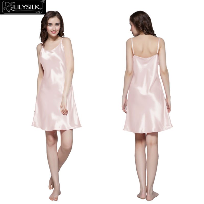 1000-light-pink-22-momme-short-feminine-silk-nightgown