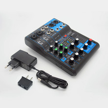 Finlemho DJ Mixer Audio Console MG06 Professional 48V Phantom Power For Amplifier Subwoofer Speaker Line Array
