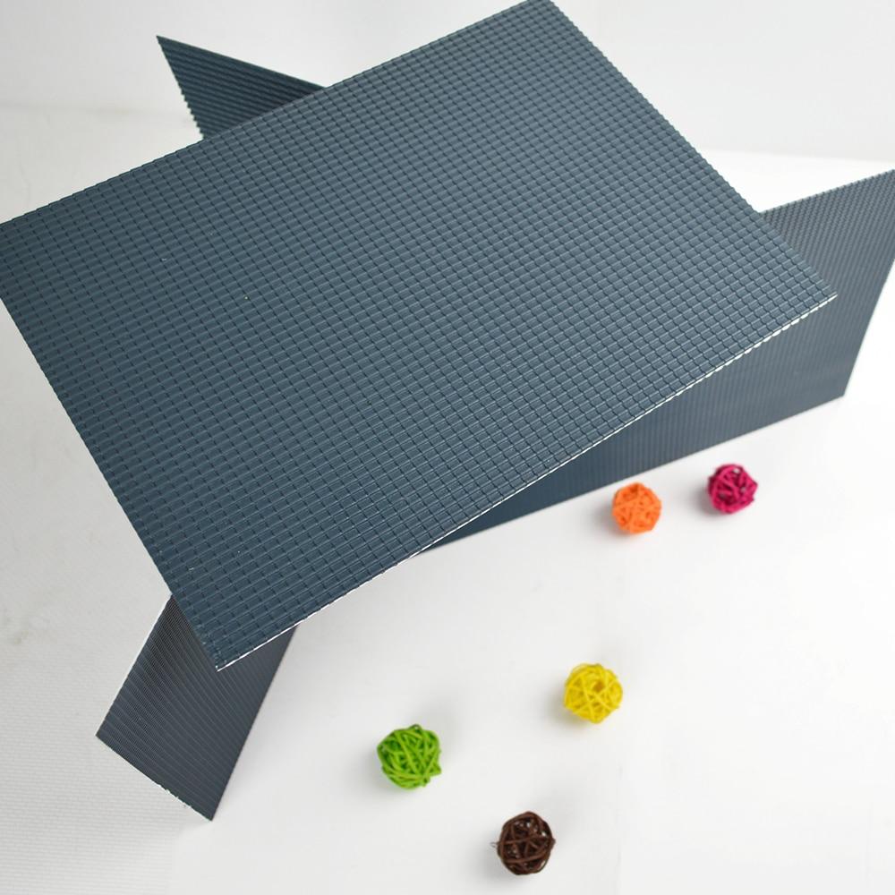 Set//5Pcs 200x300mm Architecture Model Material PVC Tile Roof Sheet Plastic Scale 1//25