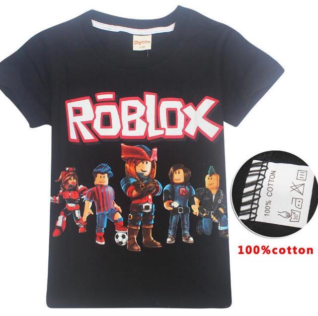 2019 Meninos Verão Camiseta Roblox Minecraft Crianças Dos Desenhos Animados Roupa Do Bebê Camisetas de Manga Curta para As Meninas das Crianças Tees Bobo choses