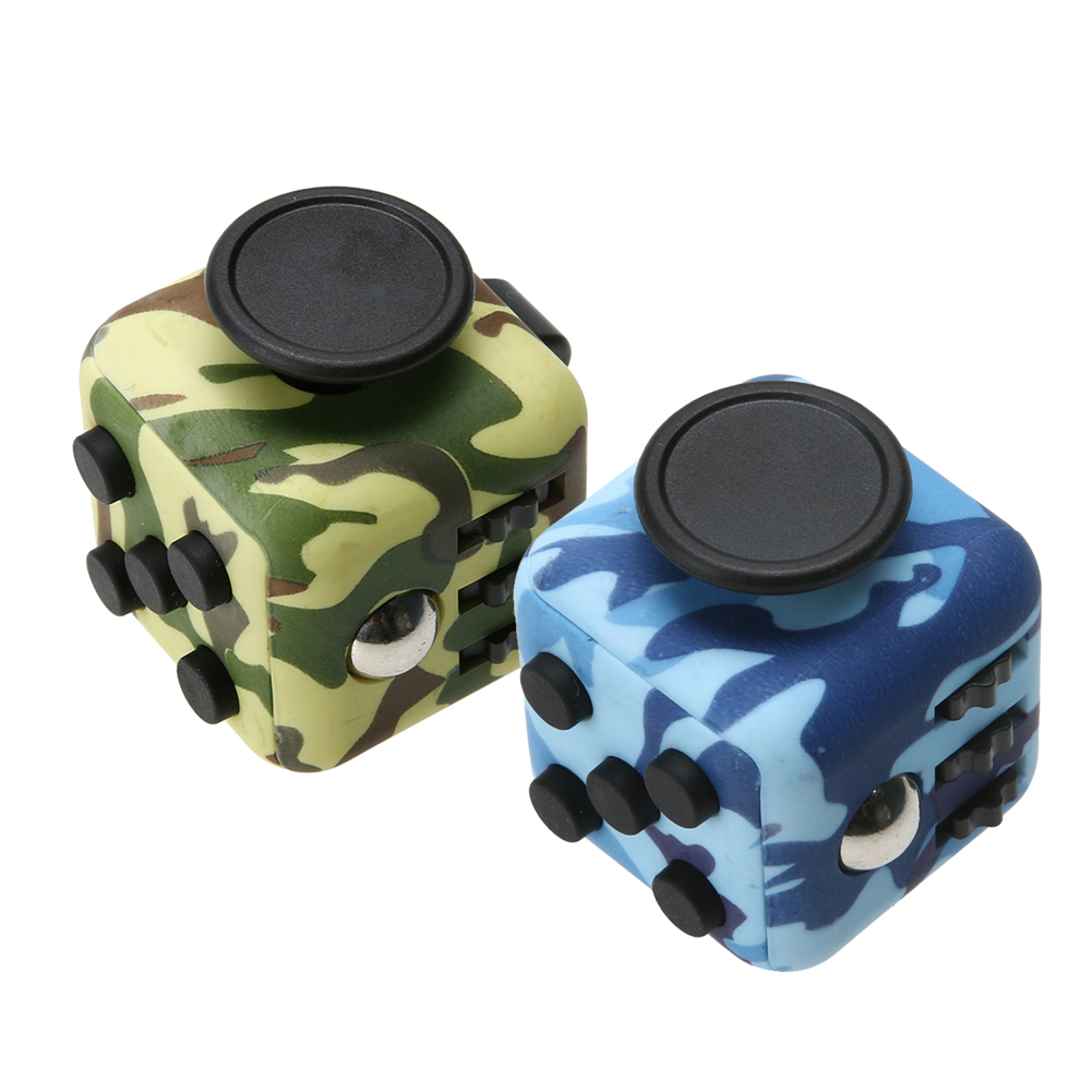 Magic Fidget Cube Relieves Squeeze Fun Stress Reliever Anxiety and Stress Cube Juguet Desk Spin Toys Hand Finger Spinner Fidget
