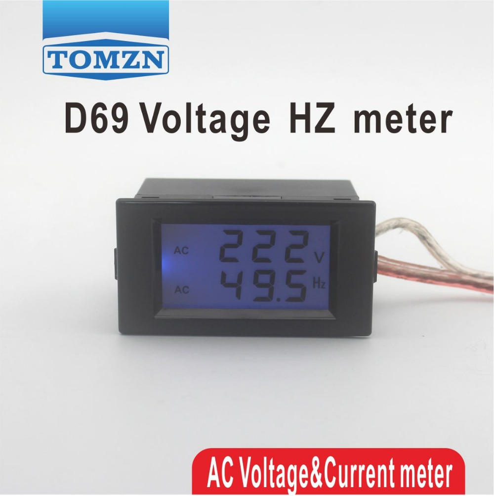 Voltage Frequency Meter : D lcd dual display voltage frequency meter voltmeter