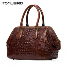 TOMUBIRD new Superior cowhide leather Embossed Crocodile famous brand women bag fashion genuine leather handbags Tote