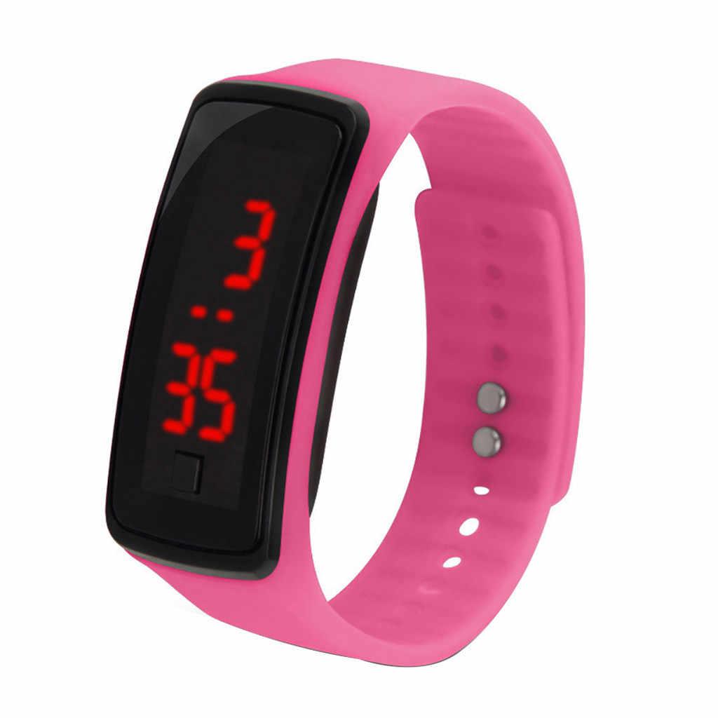 Esportes das mulheres dos homens relógio led pulseira de segunda geração relógio estudante esportes silicone eletrônico pulso inteligente y50