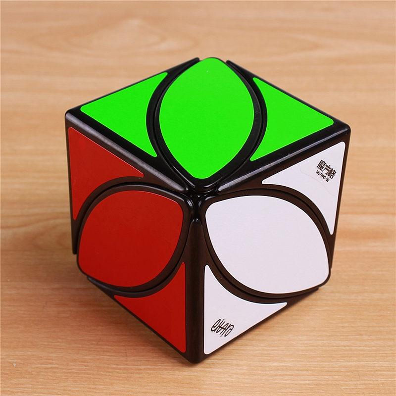 Original QiYi Mofangge Lvy Blad Line Pussel Magic Cube Speed Pvc Klistermärken De första Twist-kuberna Pedagogiska Leksaker Cubo Magico
