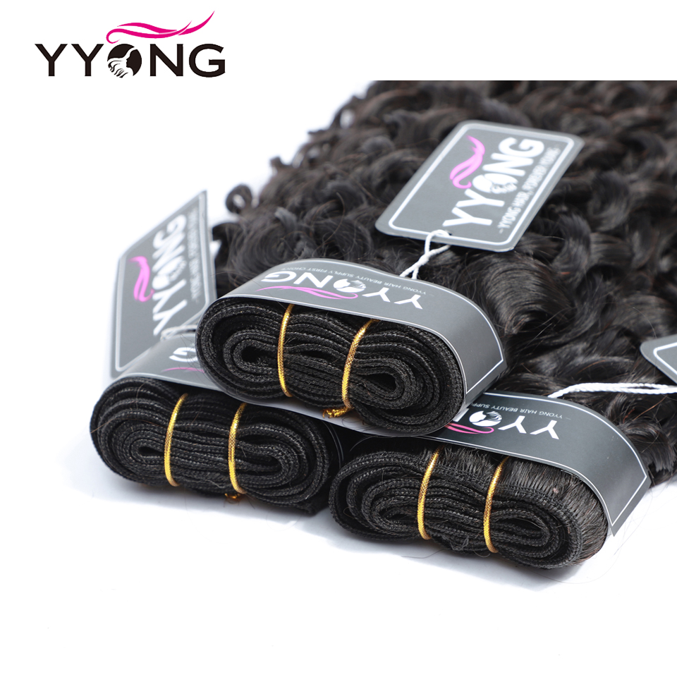 Yyong Hair 4 Bundle Deals  Water Wave Hair s 8-26 Inch 100   Natural Color  Can Be Dyed 3