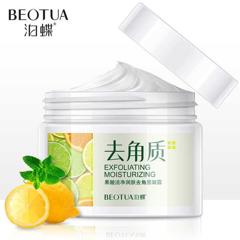 Fruit Acid Natural Cleanser Natural Facial Exfoliation Exfoliating Peeling Scrub Face Removal Deep Exfoliator Facial Skin Care