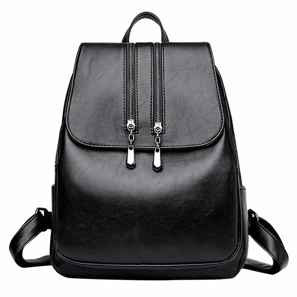 Mochila de gran capacidad para mujer, mochila de viaje resistente al agua, mochila de viaje con cremallera sólida, mochila roja antirrobo de tela Oxford