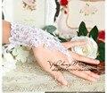 Pedidos urgentes de Carga Más El Tamaño Extra de Carga Cambia de Carga de Diseño de La boda guantes guantes de novia guantes paillette hecho a mano