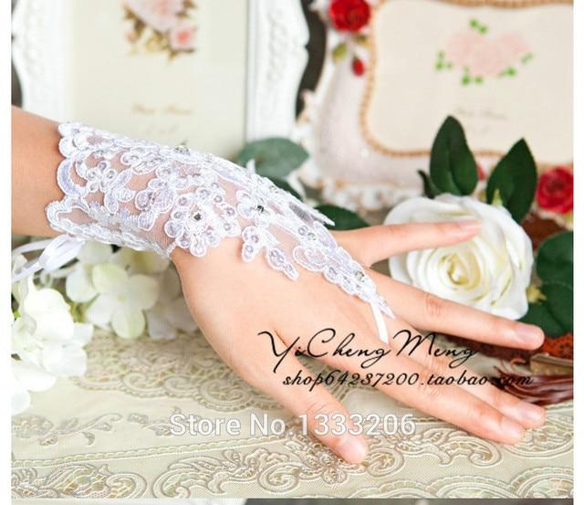 Pedidos urgentes de Carga Plus Size Extra de Carga Carga Projeto Mudou As luvas de luvas de casamento luvas de noiva artesanal paillette