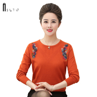 ASLTW Pullover Women's Sweater New Winter Long Sleeve Bottoming Jumper Plus Size Top Embroidery Harajuku Knitted Famle Sweaters