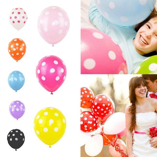 5/10 piezas/lote negro rojo Ladybug Polka Dot globo de látex Globos de fiesta regalos de cumpleaños Globos de la Ducha del bebé decoración 8z