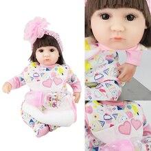 bebek reborn doll 43cm soft silicone reborn baby dolls com corpo de silicone lol vinyl reborn  menina baby girl  born недорого