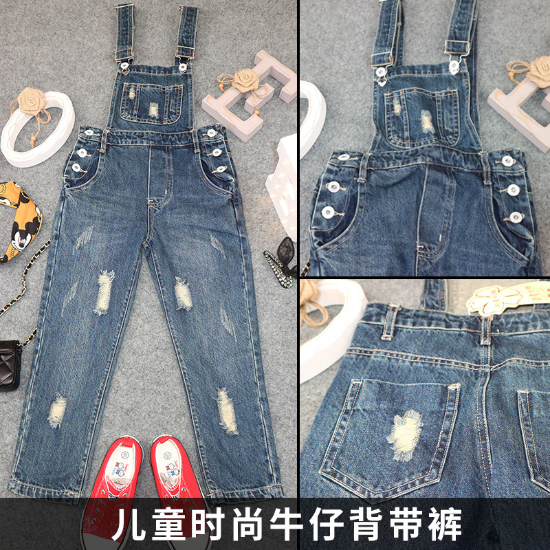 Autumn Clothing Girl Straps Leisure Time Girl Trousers Child Spring And Autumn Season Salopettes New Pattern Kids