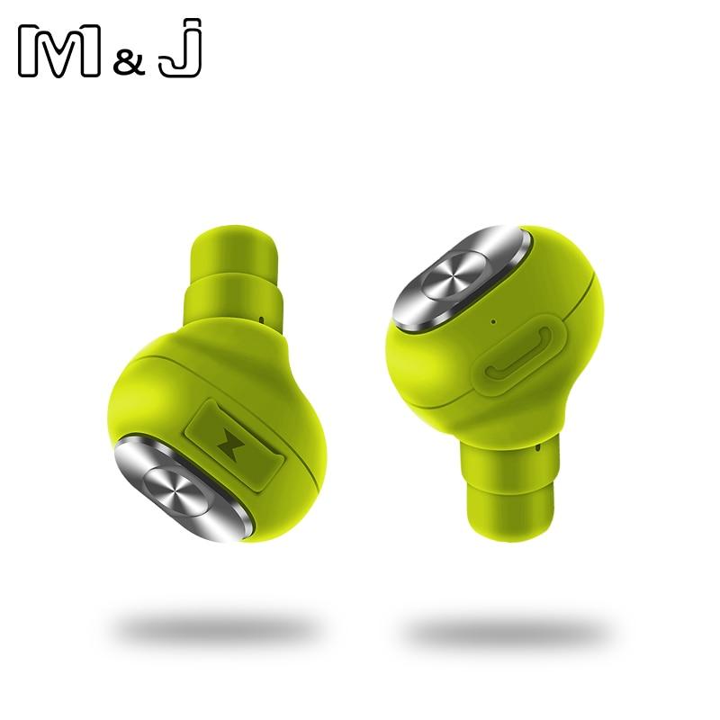 M&J F06 TWS 2 Pcs Bluetooth Earphone Mini Invisibl Bluetooth