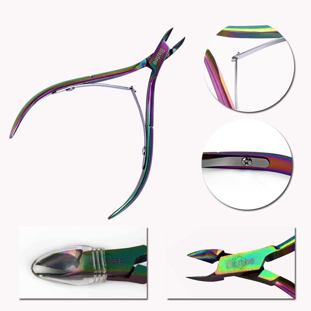 1PC Biutee Nail Cuticle Nipper Rainbow Clipper Ұстағыш Dead - Маникюр - фото 3