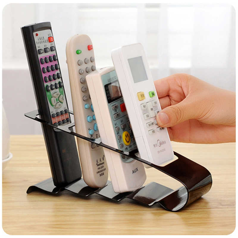 Remote Control Holder Case 4 Frame Holder TV/DVD Step Remote Control Mobile Phone Stand Storage Desk Organizer