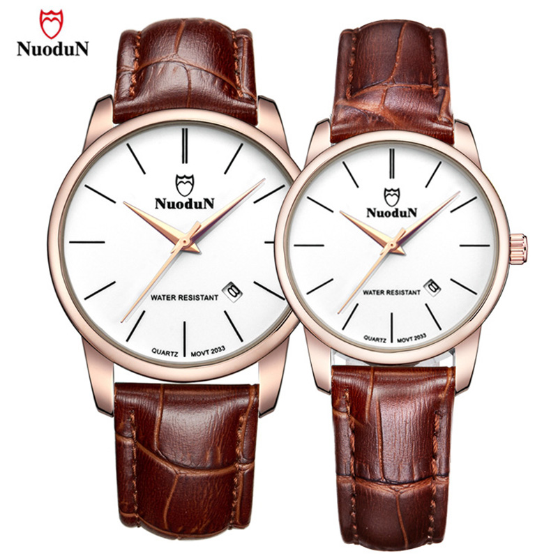 Rose Gold Watch Men Women Top Brand Luxury Couple Wristwatch Leather Band Lover's Quartz Watches Simple Style Waterproof Relogio classic simple star women watch men top famous luxury brand quartz watch leather student watches for loves relogio feminino