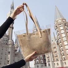2019 New Transparent hollow bags Fashion womens luxury handbags channels female messenger shoulder #19781