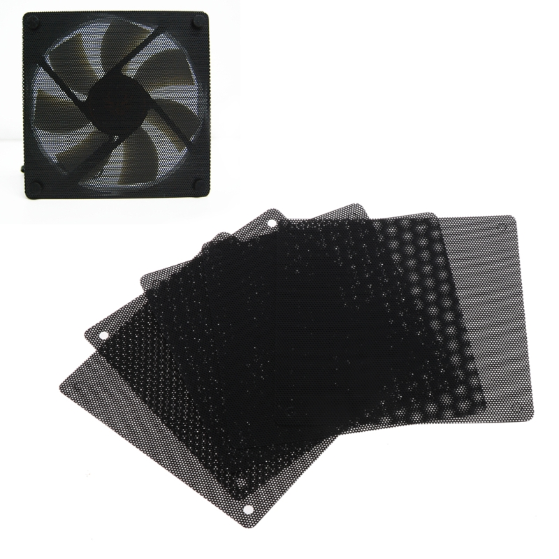 5Pc Computer Mesh PVC Case Fan Dust Filter Dustproof Cover Chassis Dust Cover for Computer Cooling Fan