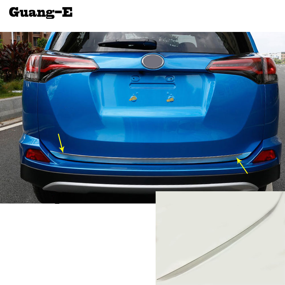 car body styling cover stainless steel Rear door bottom Tailgate frame plate trim font b lamp