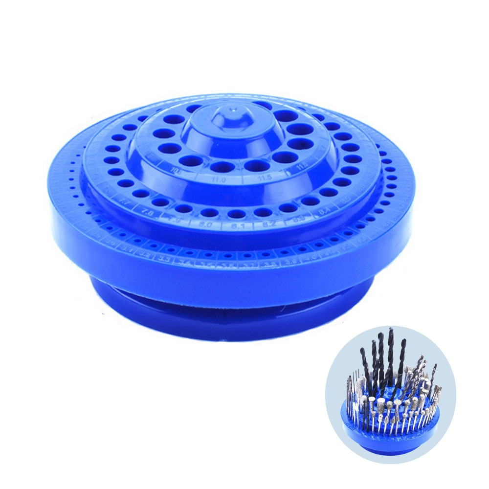 JLI 100 Holes in 1 Multipurpose Turntable Tool Holder Plastic Set Drill Box Silk Tapping Multifunctional Blue Plastic Round Shap jli vol 06