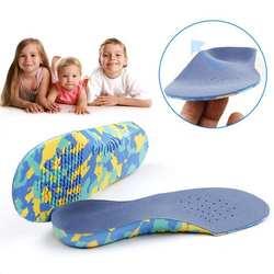 FVL дети без каблука средства ухода за кожей стоп арки поддержка стельки ортопедическая обуви подставки Размеры s m l xl XXL