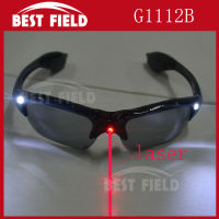 Free Shipping 12pcs Lot Fashion LED Light Up Horn Flash Glasses Random Color Cheer The Props