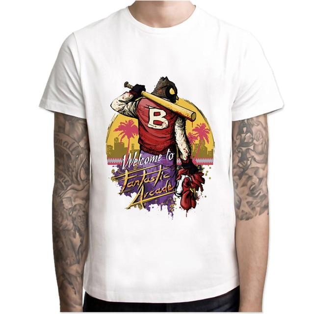 1e83e99bf hotline miami t shirt men cartoon 2017 cool funny white tshirt print T-shirt  men Tees MR68