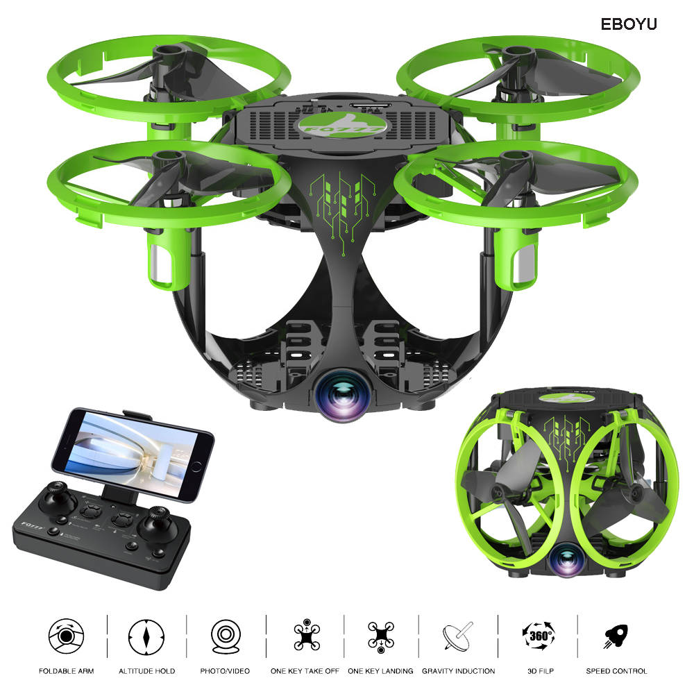 EBOYU FQ777-26 Foldable RC Drone 2.4Ghz WiFi FPV 30W HD Camera w/ Altitude Hold Headless Mode One Key Return RC Quadcopter Drone цена