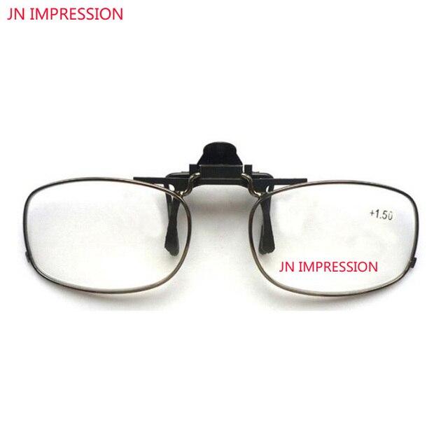 5d0f23004e8 JN IMPRESSION Clip On Men Flip Up Clips Driving Super Light Reading glasses  Men Women 1.0 1.5 2.0 2.5 3.0