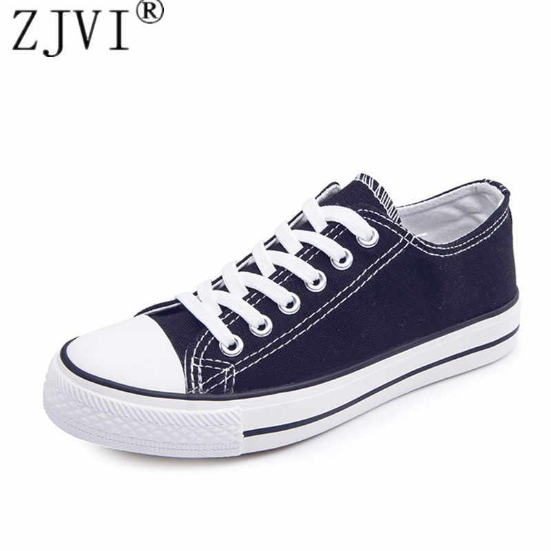 ZJVI женские на шнуровке парусиновая обувь 2019 весна-осень повседневные черные модные туфли на плоской подошве Женская Белая обувь на плоском ходу для студентов кроссовки