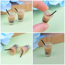 House Decoration Whole2Pcs/Lot Miniature Tea With Milk Cups Food Drink Beverage Toy Doll(China)